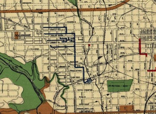 1908 sewage map walbrook