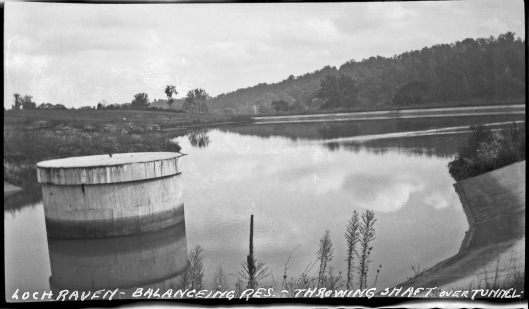 PP236.1693A Loch Raven. Balancing reservoir. Throwing shaft over